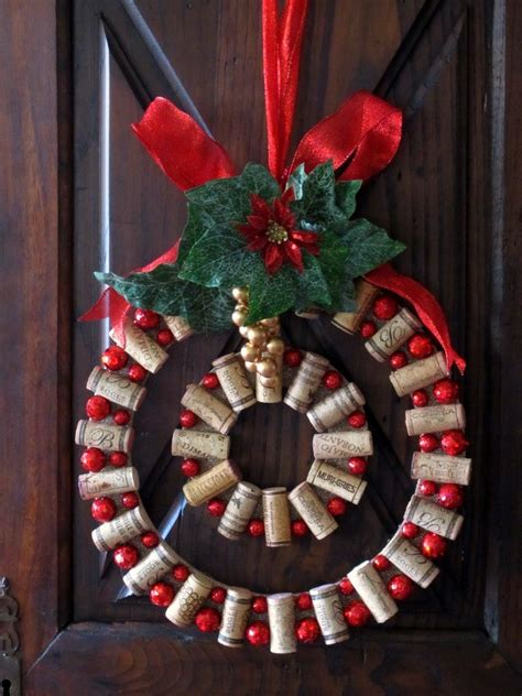 christmas ideas for wine corks wine cork diy wine cork wreath
