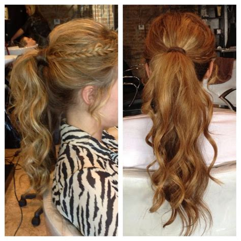 braid ball hairstyles homecoming prom hairstyle curly ponytail with bangs