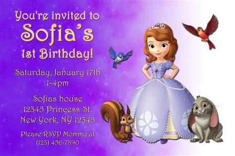 sofia the birthday card template sofia the invitations general prints