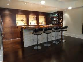 Home Bar Designs Pictures Contemporary by Modern Walnut Basement Bar Modern Basement Atlanta