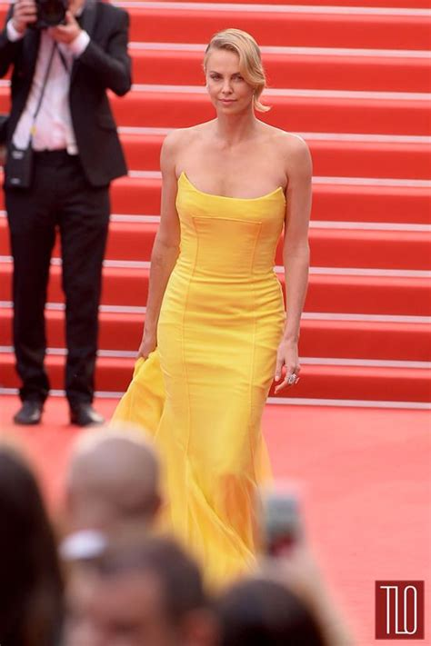 Festival Fashion Brangelina And Charlize Hit The Carpet In Venice And Deauville by Cannes 2015 Charlize Theron In Christian Couture