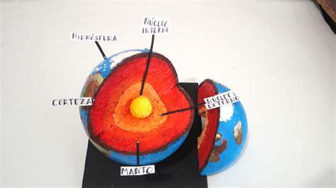 como hacer las capas de la tierra en icopor maquetas dibujos y dise 209 os capas de la tierra