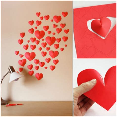 Paper Craft Hearts - diy 3d paper hearts