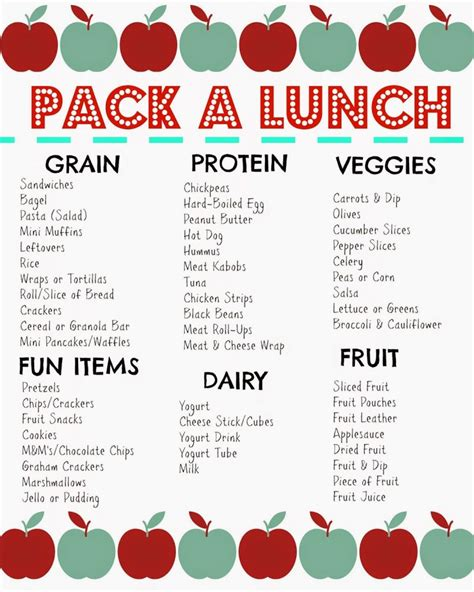 canteen card templates packed lunch box ideas free printable favorite