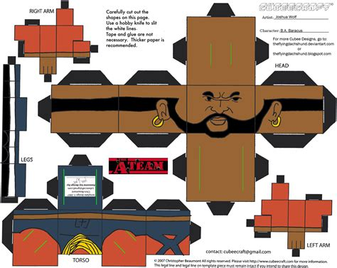Cubee Papercraft - ateam ba baracus cubee by theflyingdachshund on deviantart