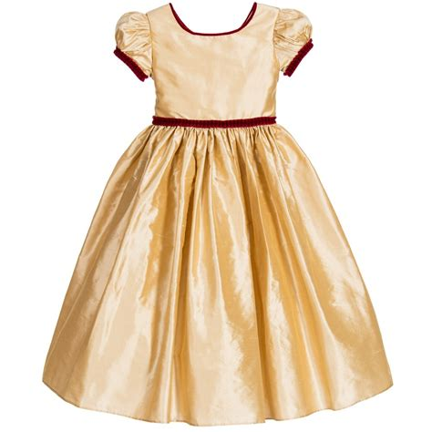 Dresses For All Seasons From Salonkitty by Nicki Macfarlane Gold Silk Ballerina Length