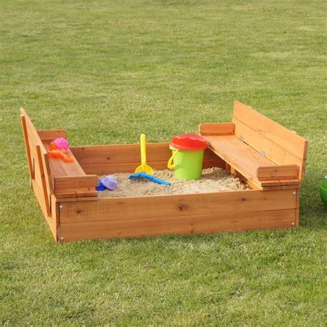 panchine per giardino sabbiera per bambini in legno con panchine per esterno e
