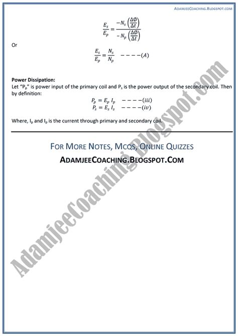 Theory Notes Mba by Adamjee Coaching Magnetism And Electromagnetism Theory