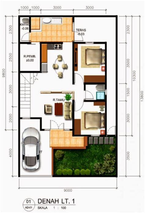desain rumah minimalis  lantai  kamar design rumah
