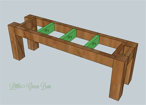 Dining Room Bench Plans | pottery barn inspired diy dining bench plans