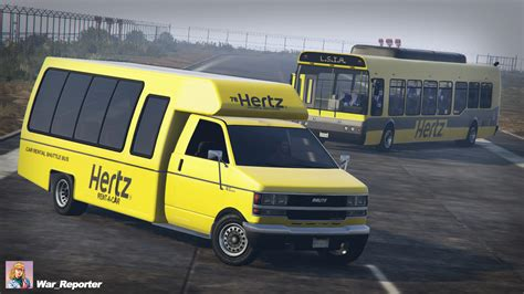 car shuttle hertz car rental shuttle realism gta5 mods