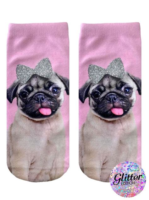 mermaid pug socks pug with bow ankle socks living royal