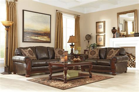 Antique Living Room Sets Rodlann Durablend Antique Living Room Set Benchcraft Furniturepick