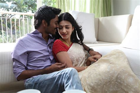 film romance recent cine news shruthi hassan hot with dhanush and siddarth