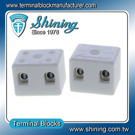 Terminal Keramik Blok 2 Pole 20a 1 Tc 202 A 2 Pole 600v 20a Heat Resistant Ceramic Terminal