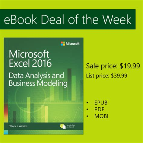 Deal Of The Week 15 At Natur by Ebook Deal Of The Week Microsoft Excel Data Analysis And