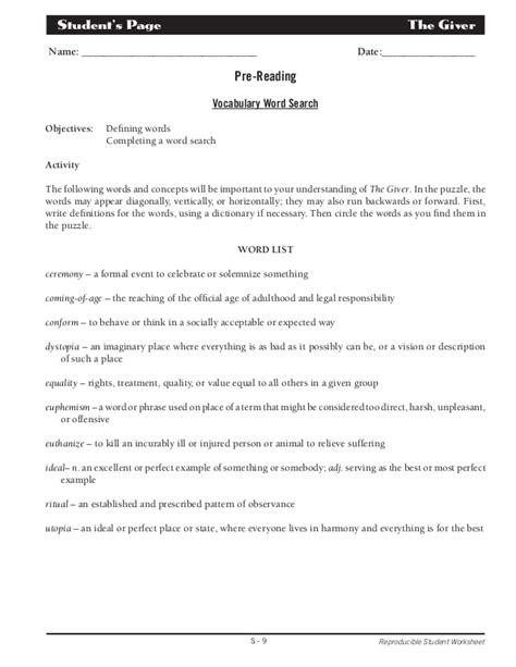 Reproducible Student Worksheet by Reproducible Student Worksheet Geersc