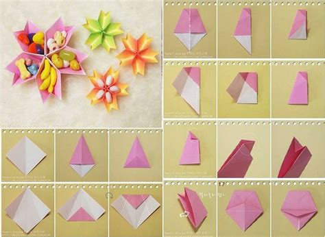 How To Fold Paper Flowers Step By Step - how to make paper flower dish step by step diy tutorial