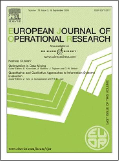 Operation Research Letter Journal Paper Is Published In European Journal Of Operational Research Ejor Whu Otto Beisheim