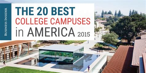 the best colleges by the sea best college the best college cuses in america business insider