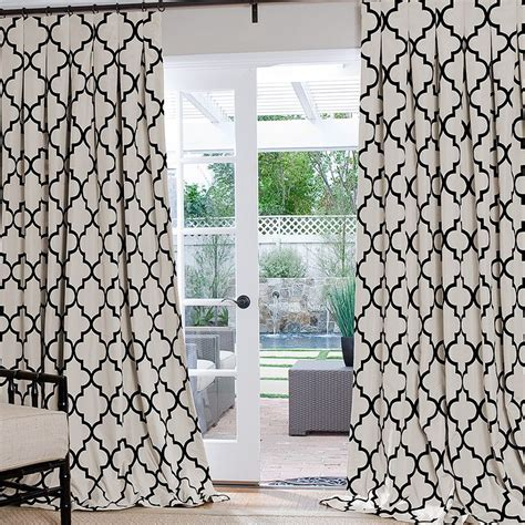 Brown And Gray Curtains Designs Adorn Your Interior With White Patterned Curtains Homesfeed