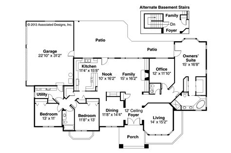 Southwest Home Floor Plans | southwest house plans lantana 30 177 associated designs