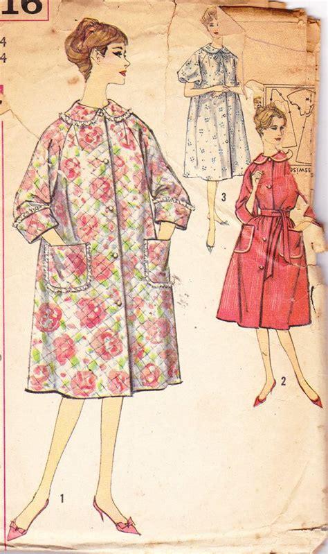vintage housecoat pattern vintage 1960s womens sewing pattern housecoat bath robe