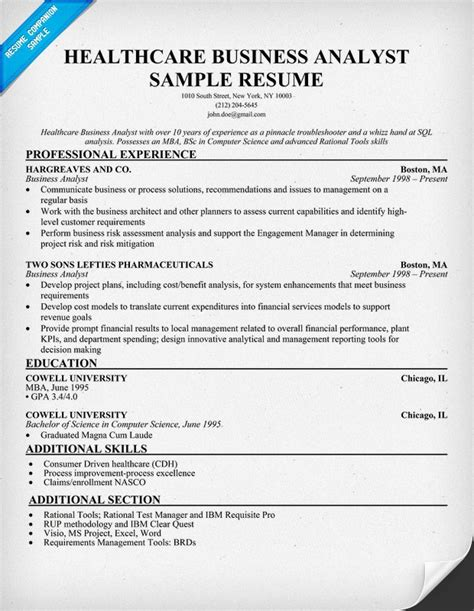 cover letter for business systems analyst