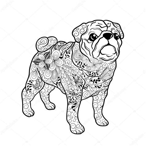 what does pug stand for pug doodle stock vector 169 vasylieva yuliya 106158850
