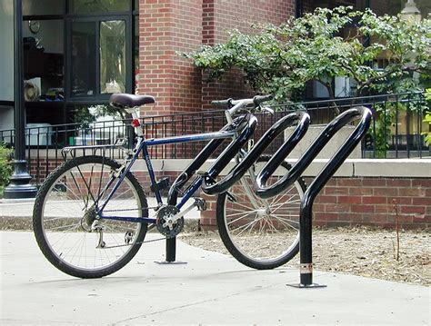 Angled Bike Rack by Standard Bike Racks By American Bicycle Security Company