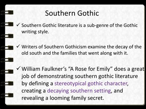 major themes in southern literature ppt a rose for emily powerpoint presentation id 2008283