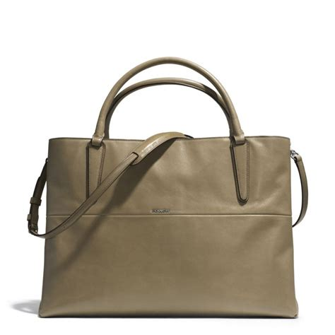 Donini Bag Nappa Leather lyst coach large soft borough bag in nappa leather in gray