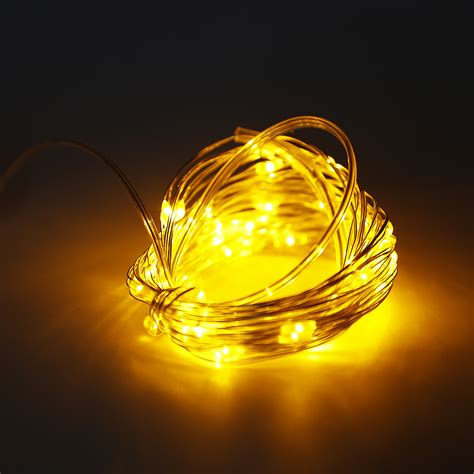 fairy lights with remote 6m 60 led copper wire string fairy light 3aa battery box