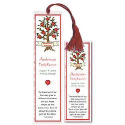 Family reunion keepsake bookmarks findgift com
