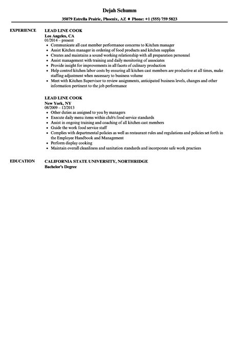 Cook Experience Resume by Resume Line Cook Experience Frieze Model Resume