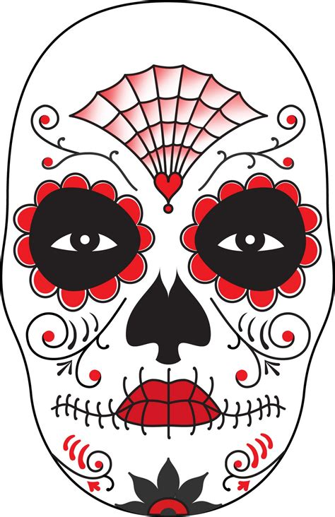 Day Of The Dead Mask Template surface fragments how to make a day of the dead mask