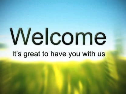 words of welcome for church visitors