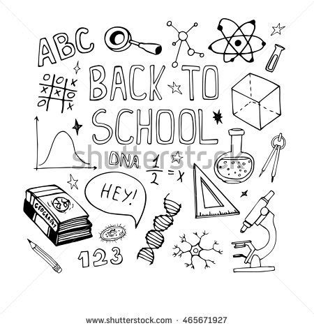 doodle maths for schools sign in vector education doodles math stock vector