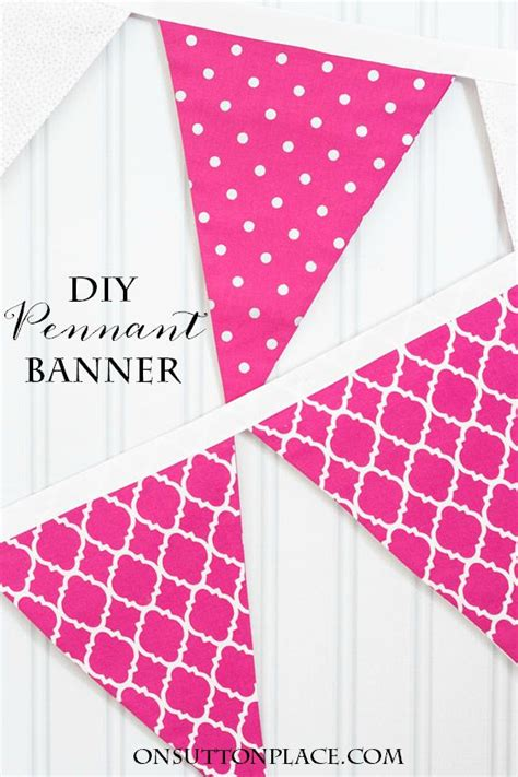 diy banner template diy pennant banner sewing tutorial on sutton place