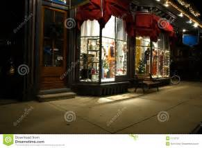 Awnings New Jersey Victorian Storefront At Christmas Royalty Free Stock
