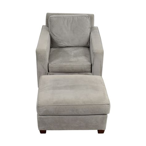 gray armchair with ottoman 49 off west elm west elm grey accent chair and ottoman