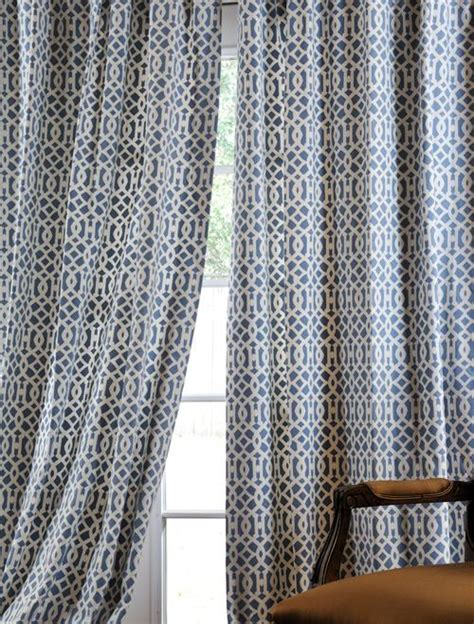denim drapes nairobi denim printed cotton curtains drapes half