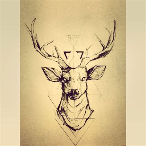 stag tattoos stags with triangles tattoos graphics