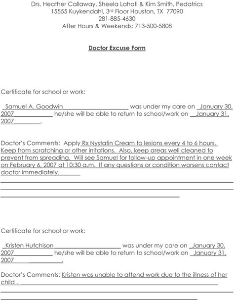 doctor note pdf doctors note template 10 professional sles to create