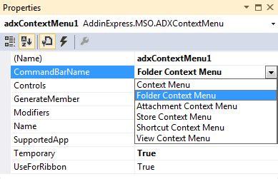 customize outlook 2013 2010 context menus and menu bar outlook 2013 addin in visual studio 2012 c vb net