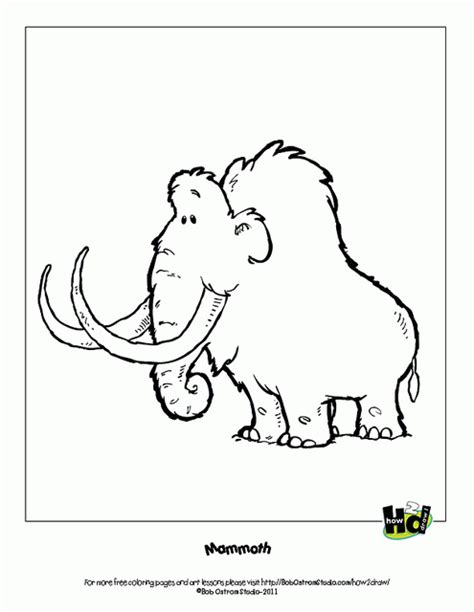 wooly mammoth coloring page kids coloring