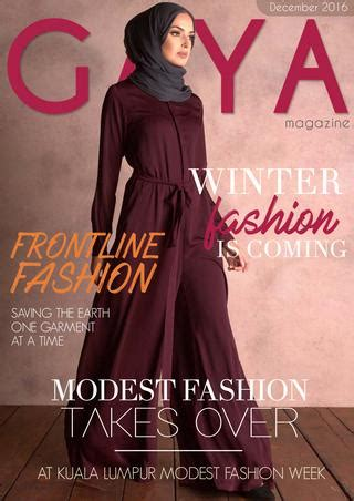 gaya magazine december  hijab modest fashion