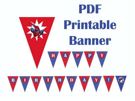 printable spiderman birthday banner pinterest the world s catalog of ideas