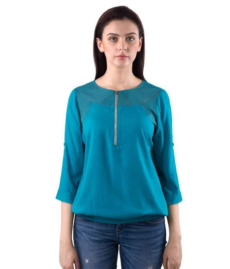 Blouse L Fit Xl Tina Katun Rayon Limited buy saiesta blue rayon tops at best prices in india snapdeal