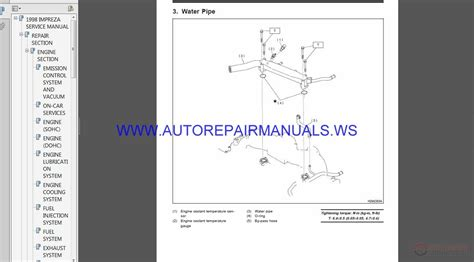 auto repair manual online 2005 subaru impreza parking system subaru impreza g10 1998 service manual auto repair